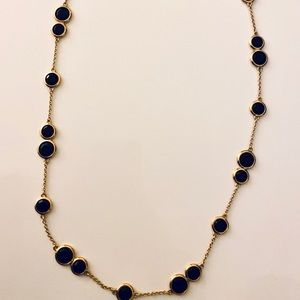 Kate spade long black and gold necklace